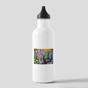 Graffiti in Prague Water Bottle
