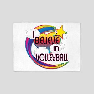 I Believe In Volleyball Cute Believer Design 5'x7'