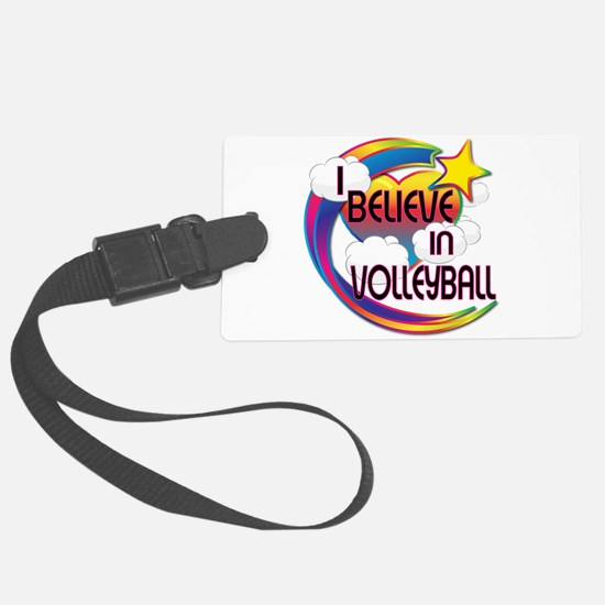 I Believe In Volleyball Cute Believer Design Luggage Tag