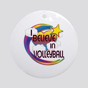 I Believe In Volleyball Cute Believer Design Ornam