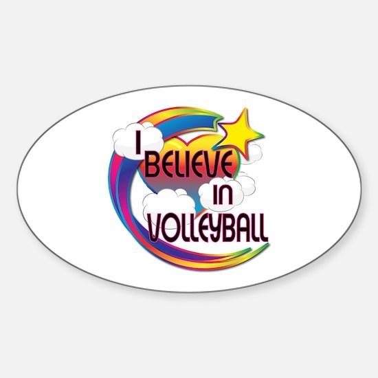 I Believe In Volleyball Cute Believer Design Stick