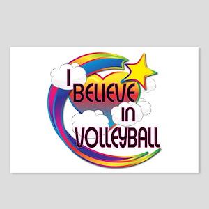 I Believe In Volleyball Cute Believer Design Postc