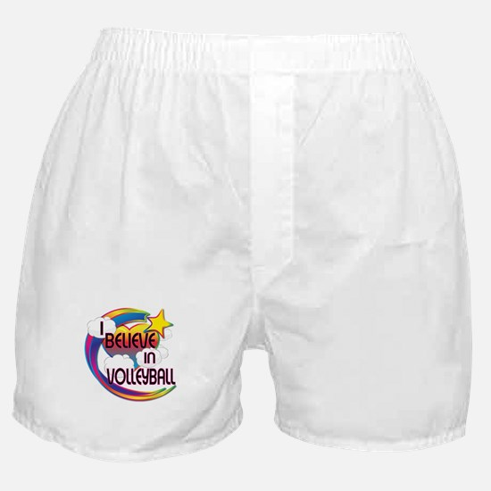 I Believe In Volleyball Cute Believer Design Boxer