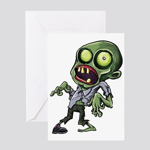 Zombie greeting cards cafepress scary cartoon zombie greeting card m4hsunfo