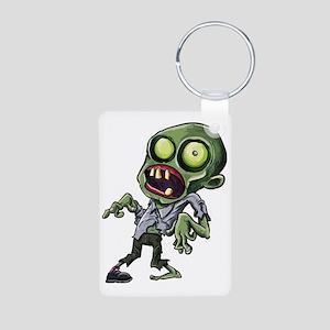 Scary cartoon zombie Aluminum Photo Keychain