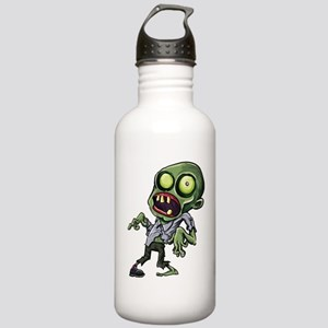 Scary cartoon zombie Stainless Water Bottle 1.0L