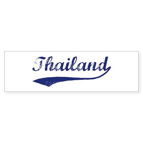 Blue Vintage: Thailand Bumper Sticker