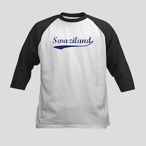 Blue Vintage: Swaziland Kids Baseball Jersey