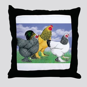 Three Brahmas Throw Pillow