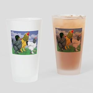 Three Brahmas Drinking Glass