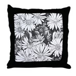 Flowers & Honey Bee Art Throw Pillow Fine Art Gift