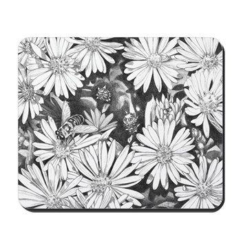 Flowers & Honey Bee Mousepad