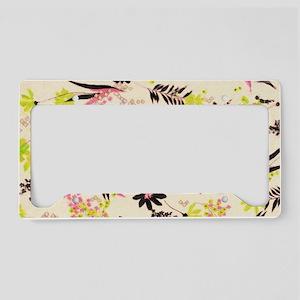 Flower patterns License Plate Holder