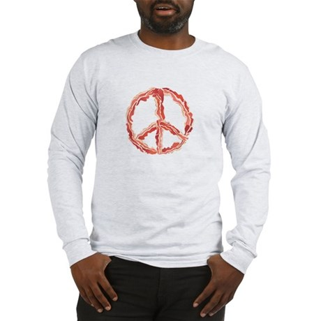 Make Bacon Not War Long Sleeve T-Shirt
