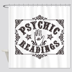 Psychic Readings black Shower Curtain