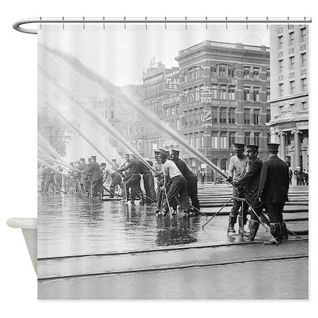 New York City Firemen Shower Curtain