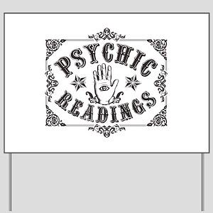 Psychic Readings black Yard Sign