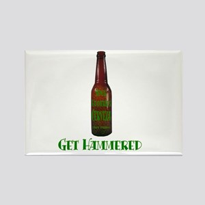Hammered Beer Rectangle Magnet