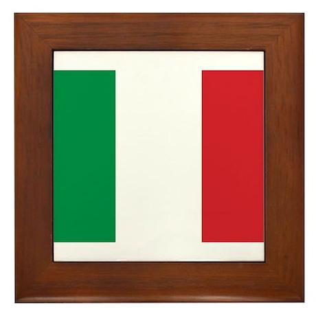 Flag of Italy Framed Tile