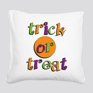 Trick or Treat 2 Square Canvas Pillow