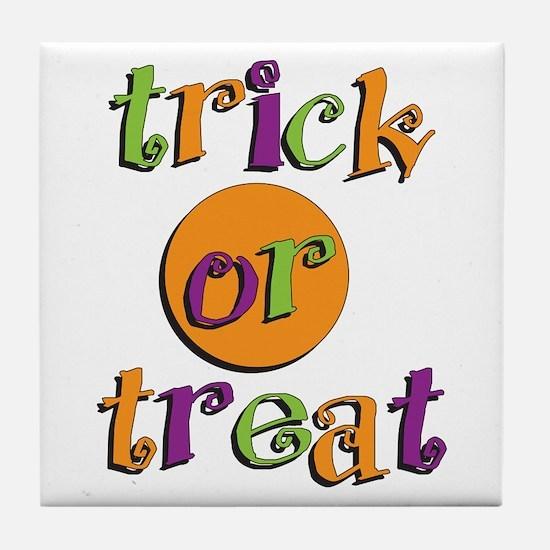 Trick or Treat 2 Tile Coaster