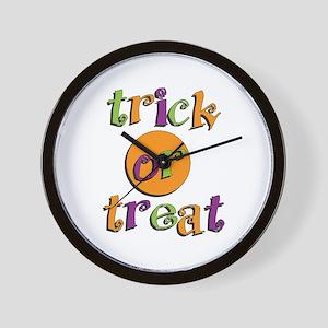 Trick or Treat 2 Wall Clock