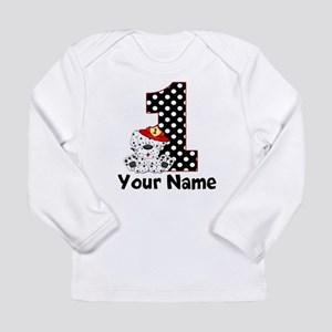 1st Birthday Fireman Long Sleeve T-Shirt