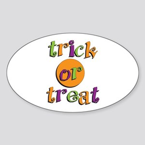 Trick or Treat 2 Sticker (Oval)
