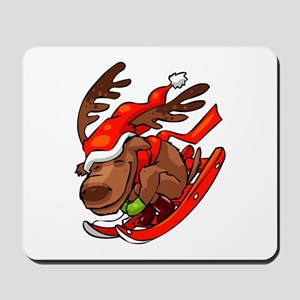 DEER SLEDDING Mousepad