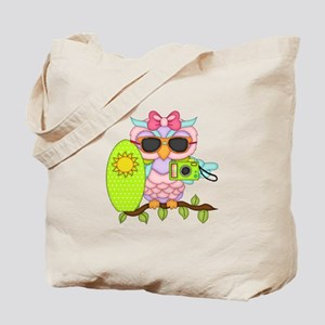 Surfing Girl Owl Tote Bag