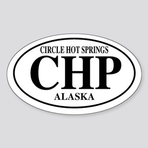Circle Hot Springs Oval Sticker