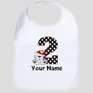 2nd Birthday Dalmatian Bib