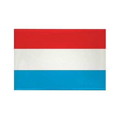 Flag of Luxemburg Rectangle Magnet