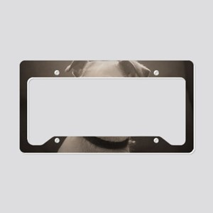Puppy Portrait License Plate Holder
