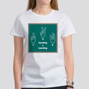 Counting is Learning Women's T-Shirt