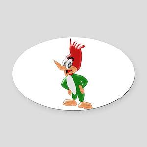 Woodpecker Oval Car Magnet