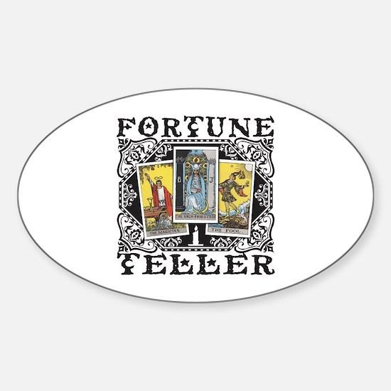Fortune Teller black Sticker (Oval)