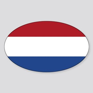 Flag of the Netherlands Oval Sticker