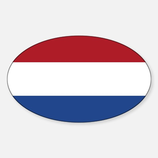Flag of the Netherlands Oval Decal