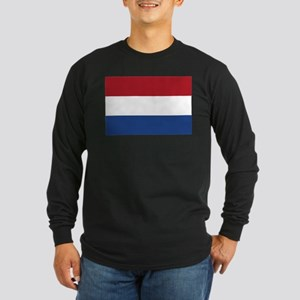 Flag of the Netherlands Long Sleeve Dark T-Shirt