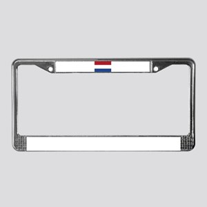 Flag of the Netherlands License Plate Frame