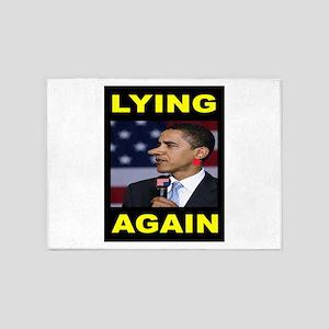 LYING PRESIDENT 5'x7'Area Rug