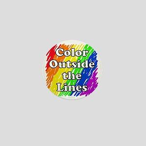 Color Outside the Lines Mini Button