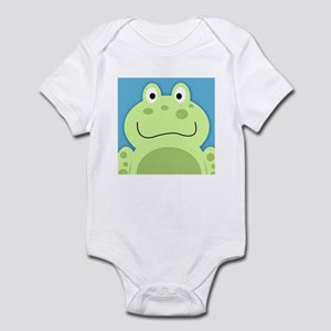 Cute Frog with Blue Background Body Suit