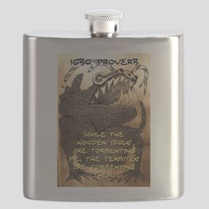 While The Wooden Idols - Igbo Proverb Flask