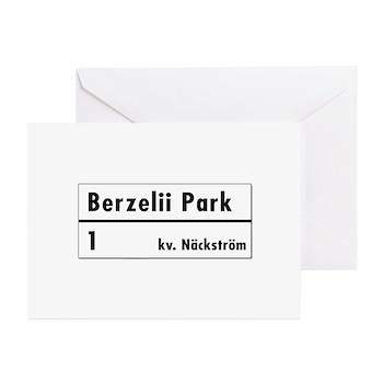 Berzelii Park, Stockholm - Sweden Greeting Cards