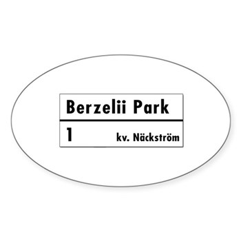 Berzelii Park, Stockholm - Sweden Oval Sticker