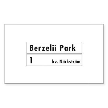 Berzelii Park, Stockholm - Sweden Sticker (Rectan