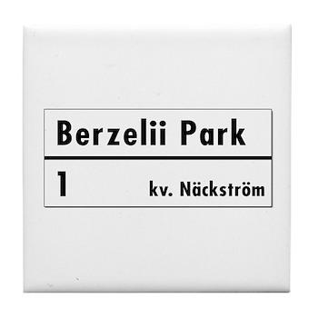 Berzelii Park, Stockholm - Sweden Tile Coaster