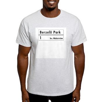 Berzelii Park, Stockholm - Sweden Ash Grey T-Shir